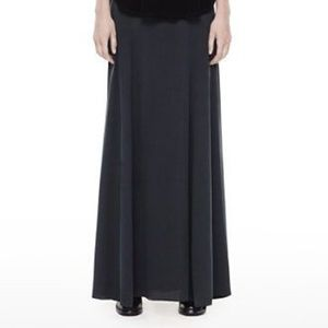 Theyskens' Theory Black Sotto Silk Maxi Skirt